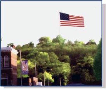 Flag on South Mound